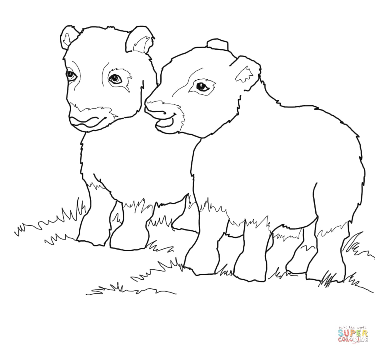 Muskox coloring #9, Download drawings