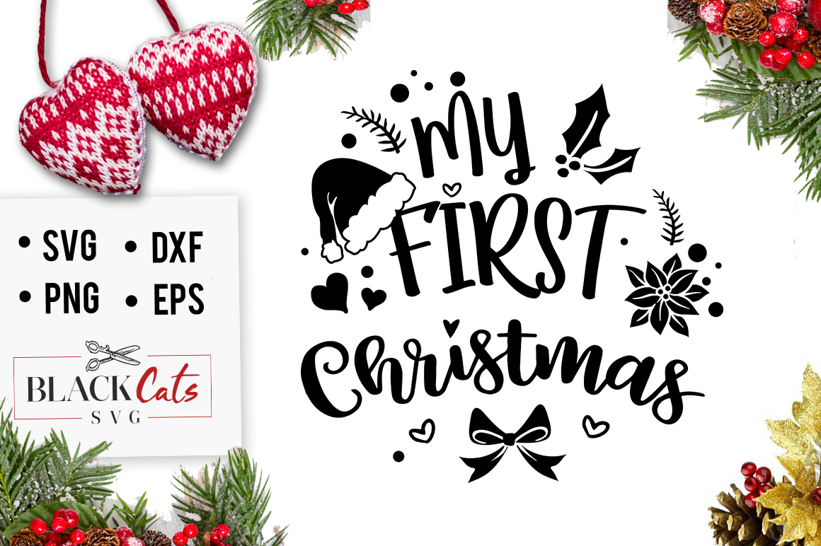 my first christmas svg #1032, Download drawings
