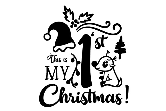 my first christmas svg #1019, Download drawings
