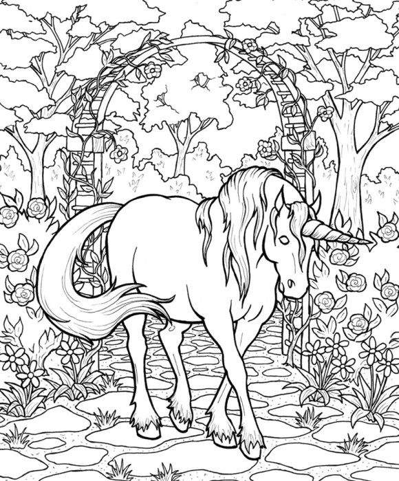 Mythical coloring #19, Download drawings