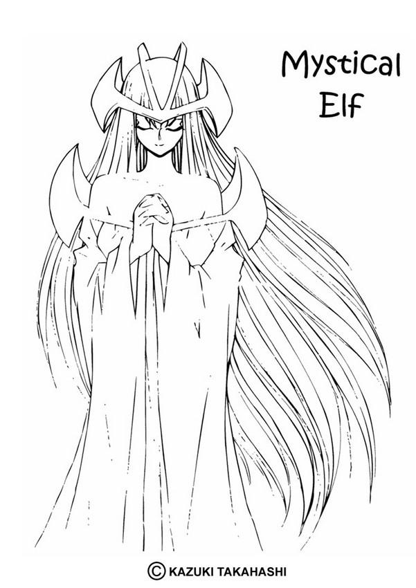 Dark Elf coloring #15, Download drawings