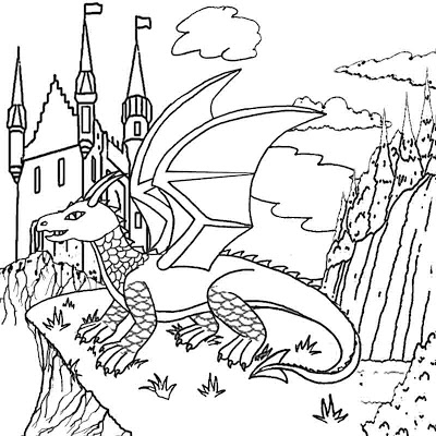 Mystical Dragon coloring #20, Download drawings