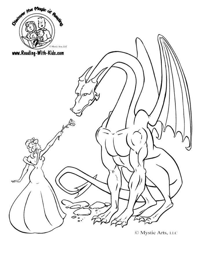 Mystical Dragon coloring #5, Download drawings