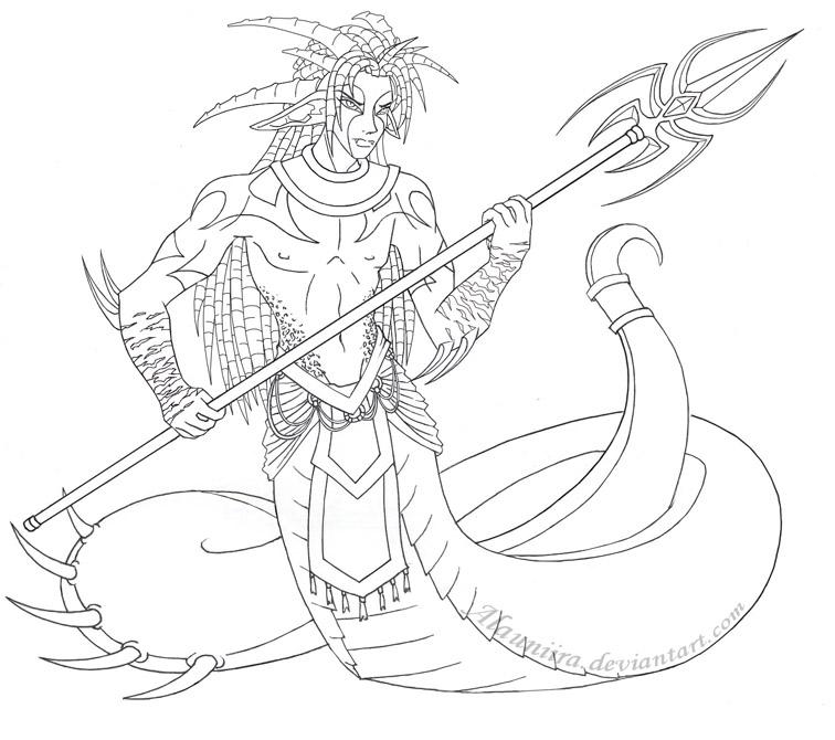 Naga coloring #20, Download drawings