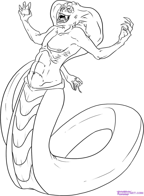 Naga coloring #18, Download drawings