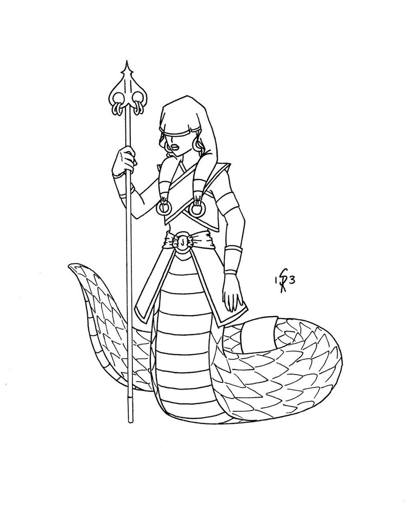 Naga coloring #16, Download drawings