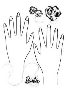 Nails coloring #4, Download drawings