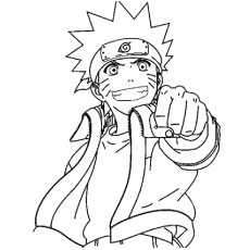 Naruto coloring #20, Download drawings