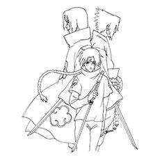 Naruto coloring #5, Download drawings