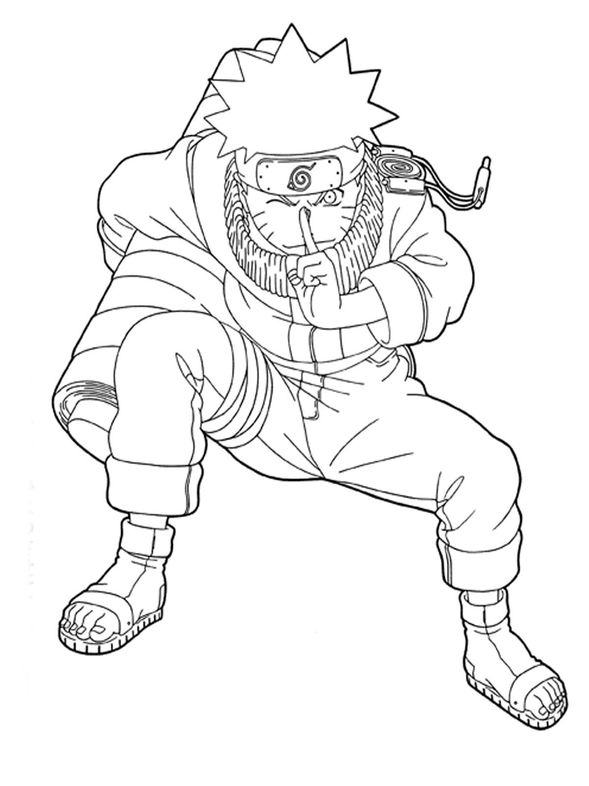 Naruto coloring #19, Download drawings
