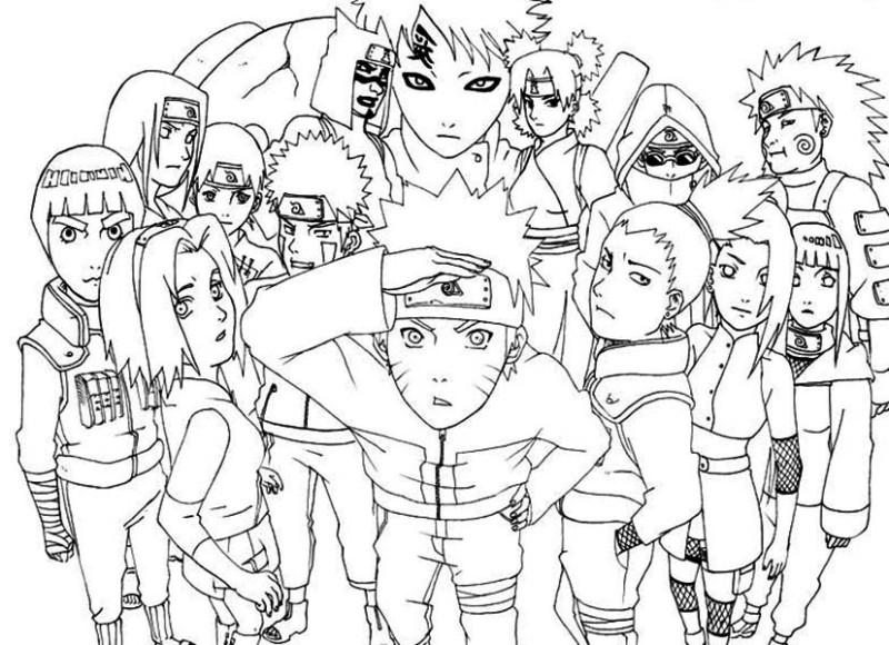 Naruto coloring #14, Download drawings