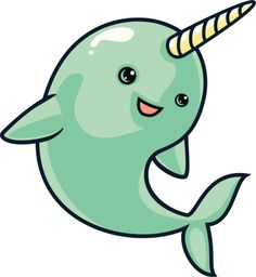Narwhal clipart #4, Download drawings