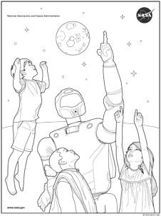 NASA coloring #18, Download drawings