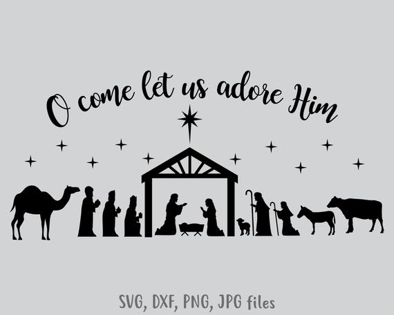 nativity silhouette svg #428, Download drawings