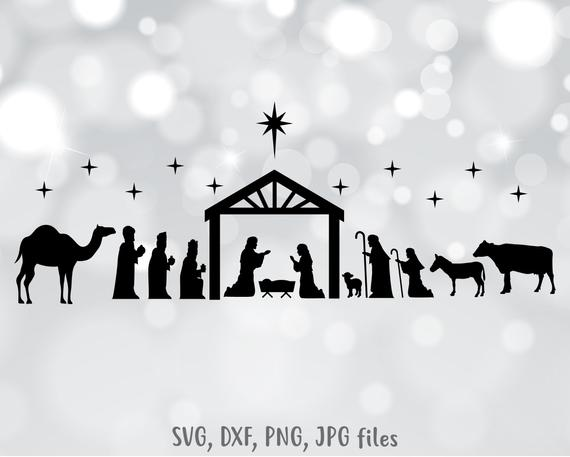 nativity silhouette svg #429, Download drawings
