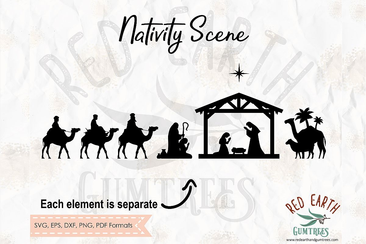 nativity silhouette svg #394, Download drawings