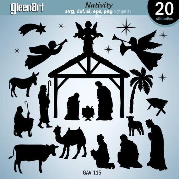 nativity silhouette svg #418, Download drawings
