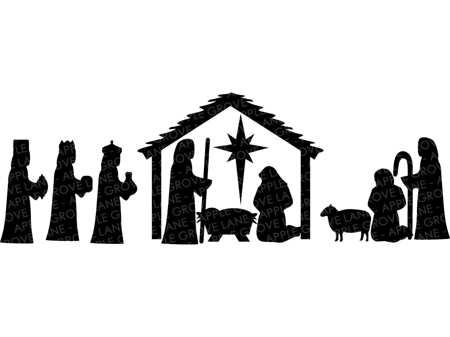 nativity silhouette svg #402, Download drawings