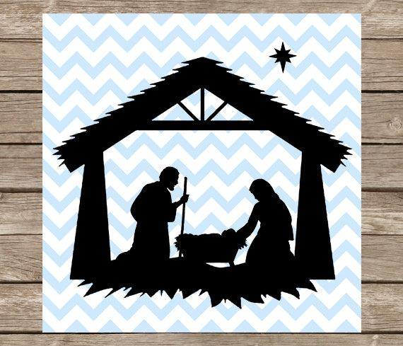 nativity silhouette svg #410, Download drawings