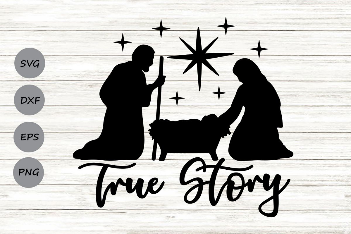 nativity silhouette svg #424, Download drawings