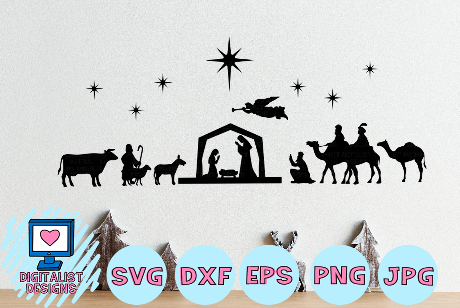 nativity silhouette svg #384, Download drawings
