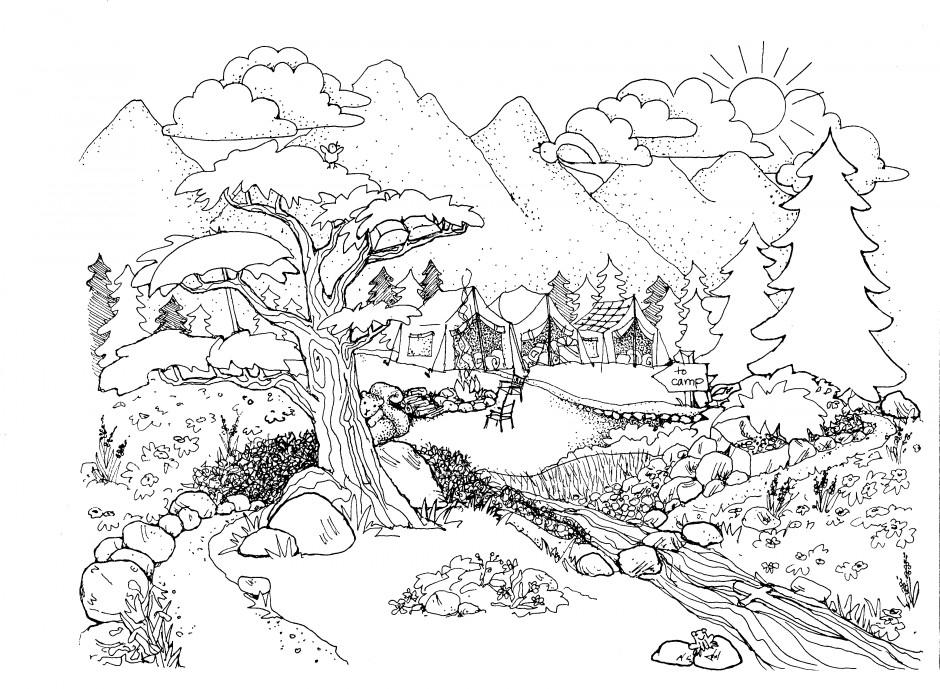 Natur coloring #5, Download drawings