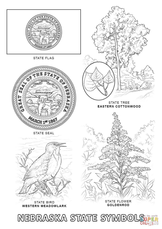Nebraska coloring #20, Download drawings