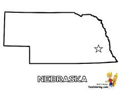 Nebraska coloring #17, Download drawings