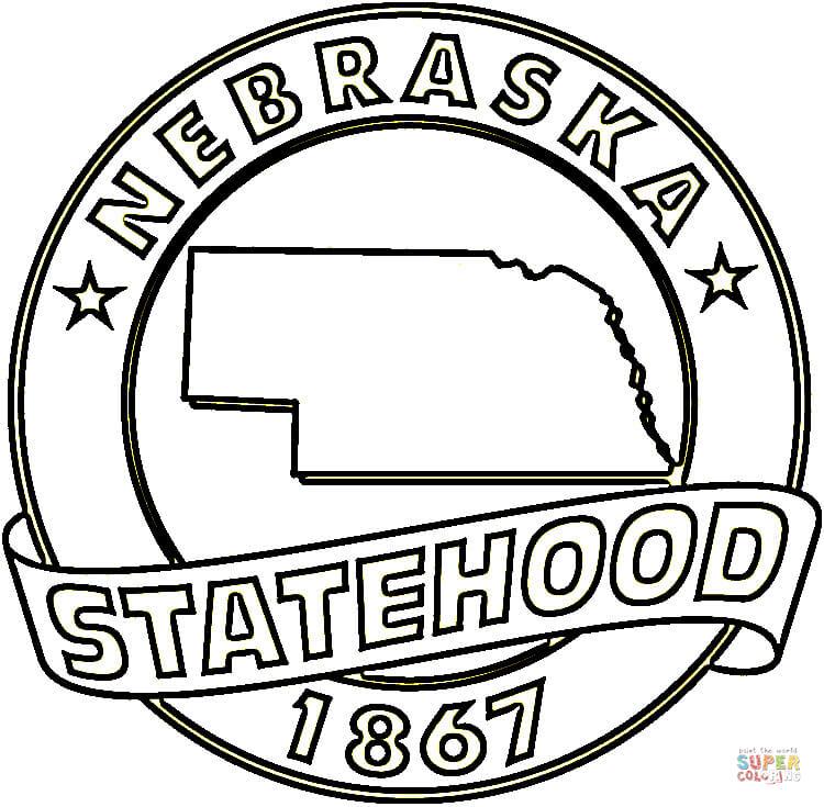 Nebraska coloring #4, Download drawings