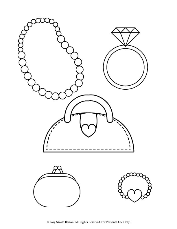 Necklace coloring #16, Download drawings