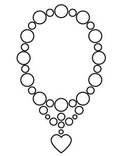 Necklace coloring #9, Download drawings