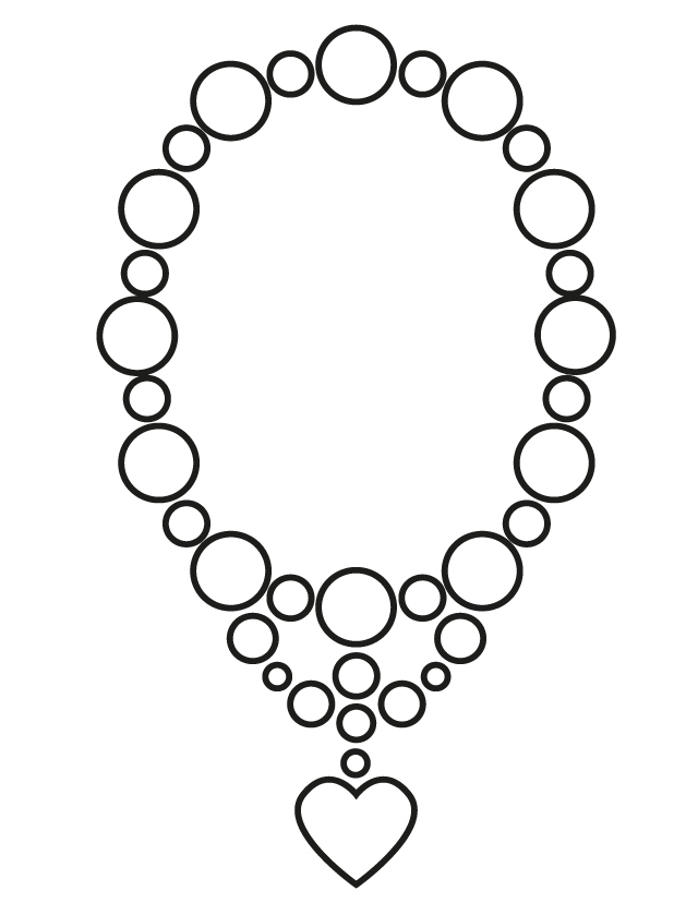 Necklace coloring #3, Download drawings