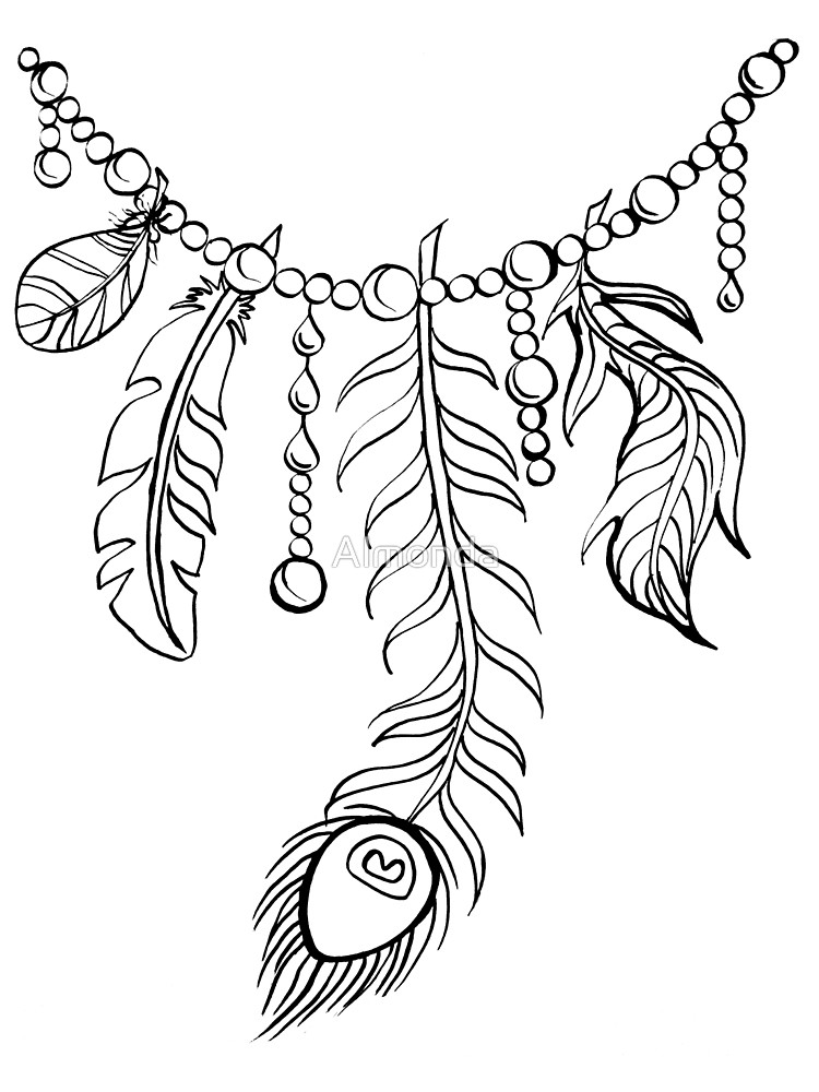 Necklace coloring #20, Download drawings
