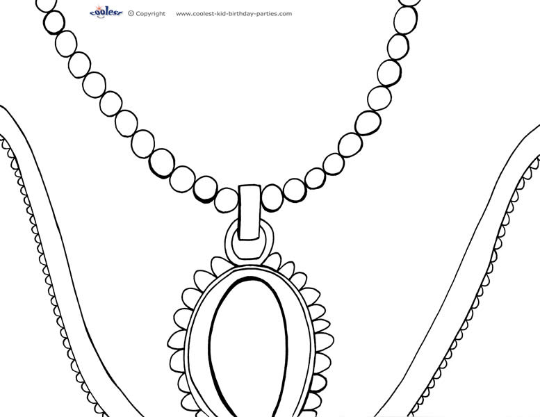 Necklace coloring #6, Download drawings