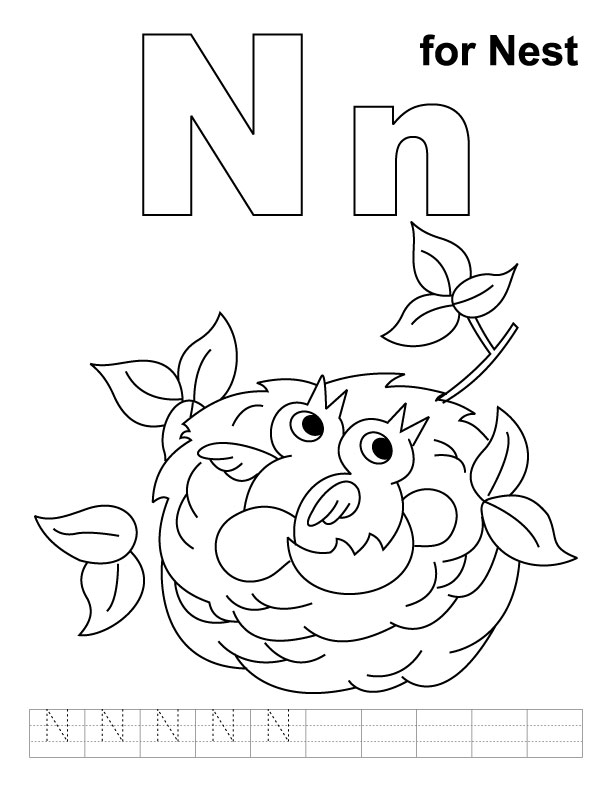 Nest coloring #3, Download drawings