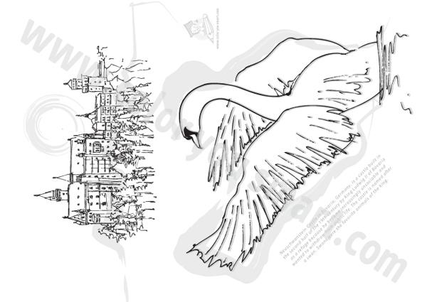 Neuschwanstein Castle coloring #1, Download drawings