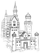 Neuschwanstein Castle coloring #9, Download drawings