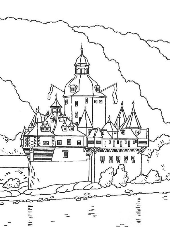 Neuschwanstein Castle coloring #7, Download drawings