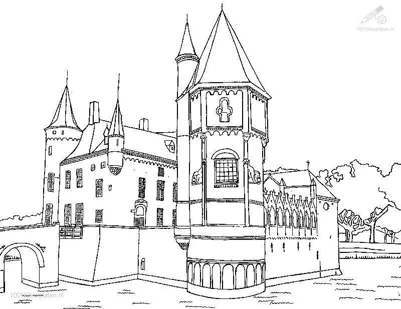 Neuschwanstein Castle coloring #4, Download drawings