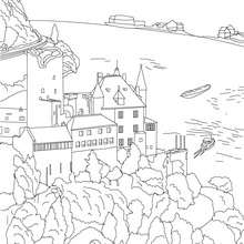 Neuschwanstein Castle coloring #16, Download drawings