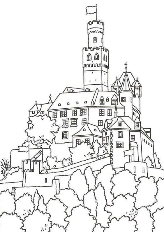 Neuschwanstein Castle coloring #10, Download drawings