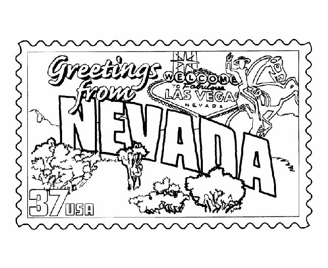 Nevada fall coloring download nevada fall coloring for Nevada state flag coloring page