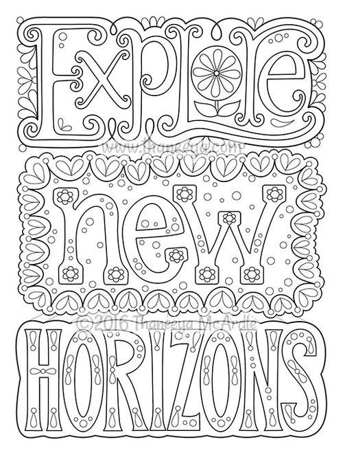 New Horizon coloring #5, Download drawings