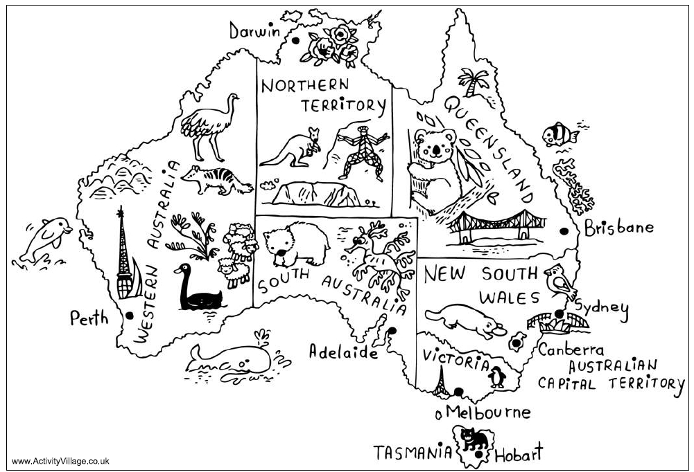 New South Wales coloring #18, Download drawings