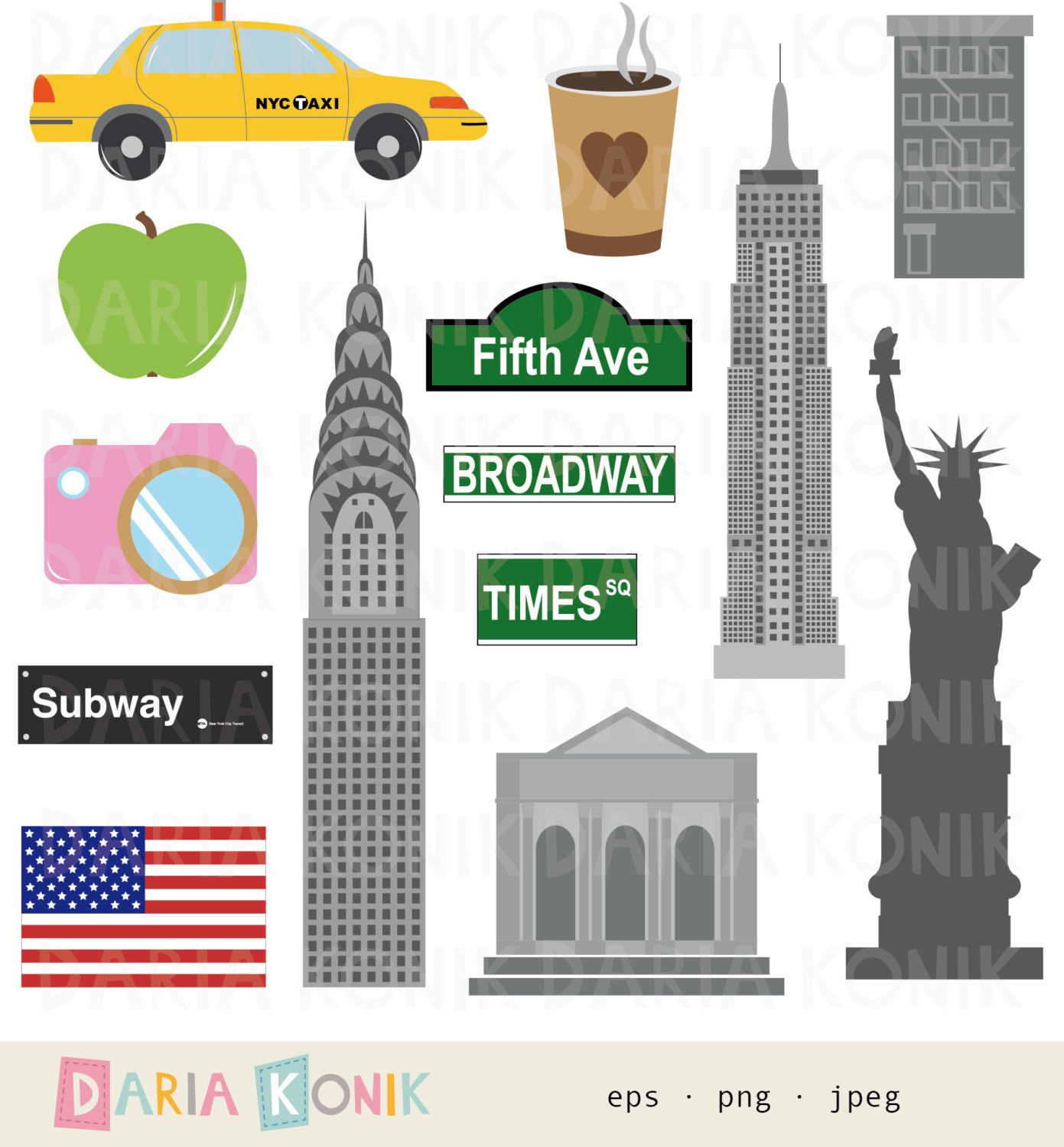 New York clipart #1, Download drawings