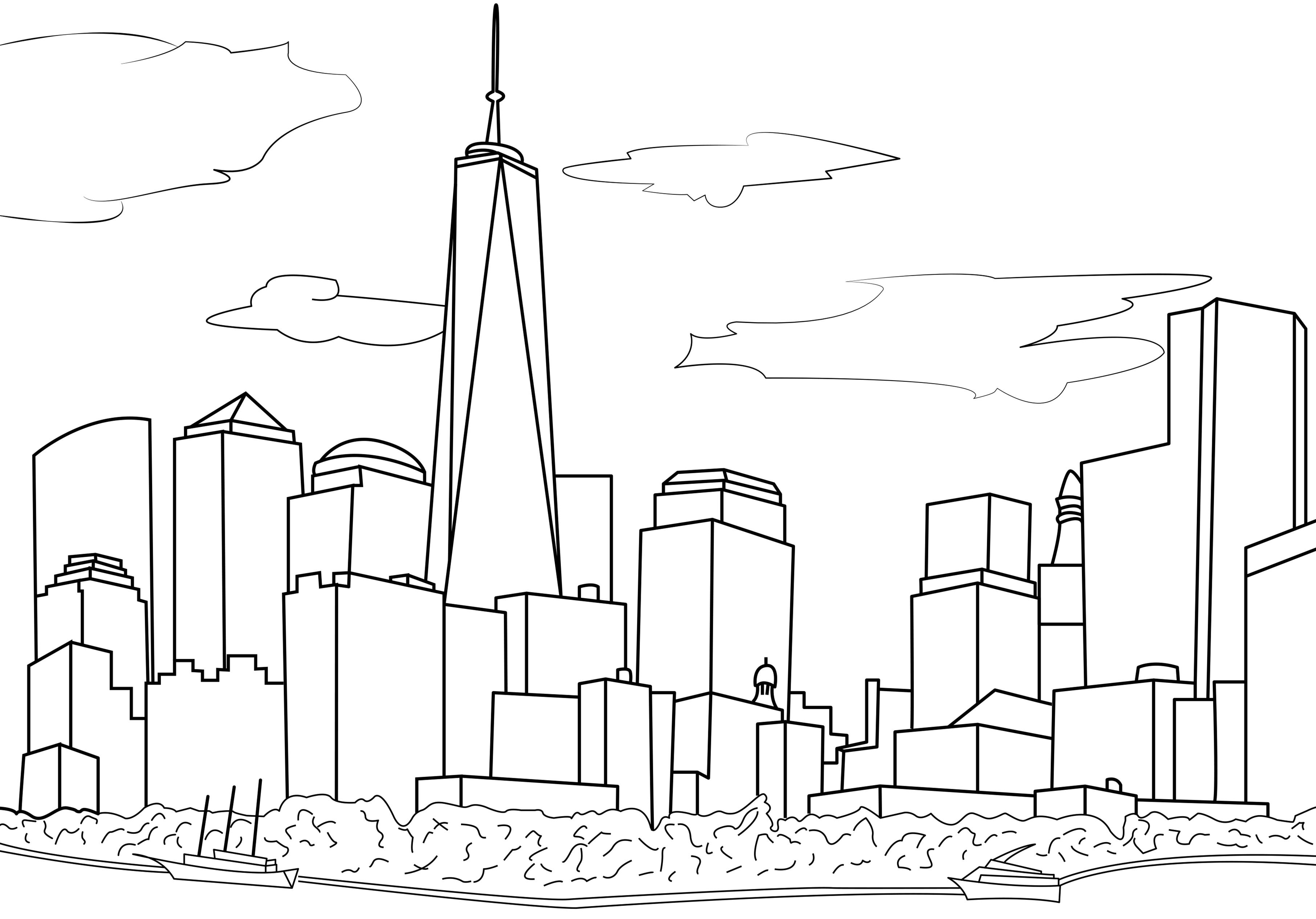 New York coloring #2, Download drawings