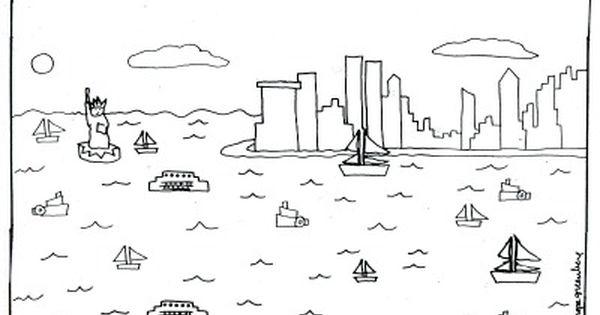 New York coloring #12, Download drawings