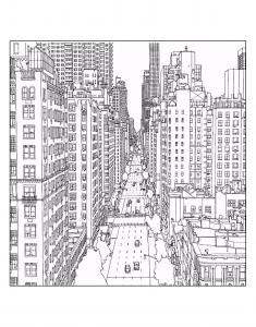 New York coloring #4, Download drawings