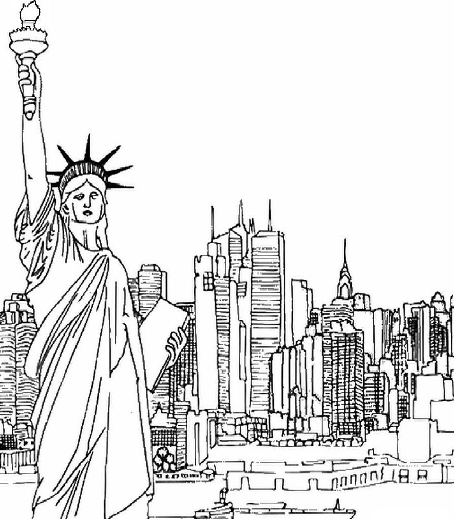 New York coloring #3, Download drawings