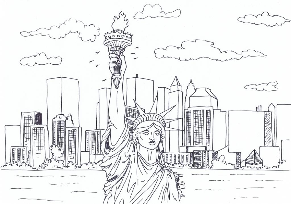 New York coloring #8, Download drawings